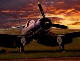 sunset fire with corsair ofmc by Sceptre63