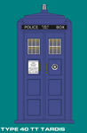 Doctor Who Type 40 TT TARDIS by ArthurTwosheds