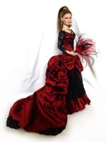 OOAK Victorian inspired Gown by DalilaDolls