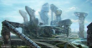 Landscapes part two: Sci Fi Cityscape by MOSKUITO