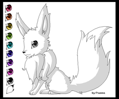 eevee template lineart base by Psunna