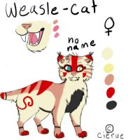 No name the weasel-cat by Cierue