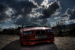 Red BMW 5 by MyAssIsOnFire