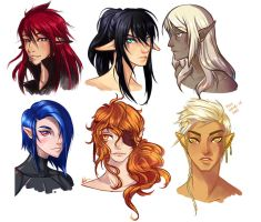 Faces by Atobe333