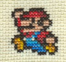 Cross Stitch Fan Art-Mario by missy-tannenbaum