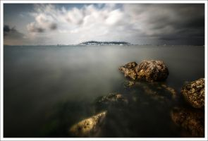 Etang de Thau, this morning.. by Graphylight