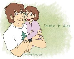 Gravity Falls, Grown Up: Dipper and Alex by MandiPope