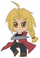 Chibi: Edward Elric by animereviewguy