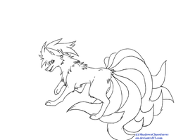 .:Ninetales Lineart:. by ShadownChaosforevr