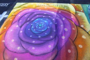 Streetpainting-rose by ginifur