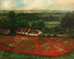 Landscape after Monet by LauraWilde