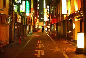 :: Night time in Tokyo :: by adamy