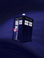 The Tardy in the TARDIS by poecillia-gracilis19