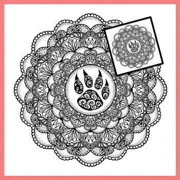 Mandala Present for: IronclawsAndPaws by Marce3