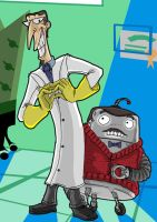 Principal Scudworth and Mr. B by Cannibal-Cartoonist