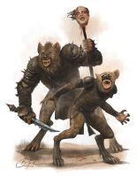 Gnolls by simon buckroyd by Binoched
