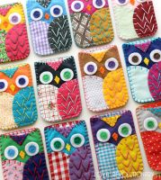 Felt Owl Phone Case Embroidery by lovarevolutionary