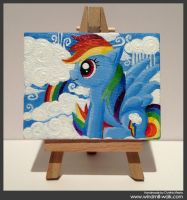 Rainbow Dash (Mini canvas) by Onyrica