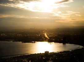 Toronto at sunset by inacom
