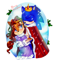Merry Christmas from the King and Queen by LilRedGummie