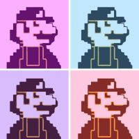 Super Mario 8bit pop art by DevintheCool