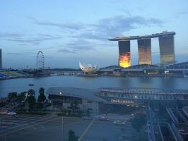 Balcony View from Fullerton Hotel by nosugarjustanger