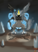 Black Kyurem (you think you can take me on?) by ColorDrake