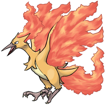 Mega Moltres by TheCompleteAnimorph