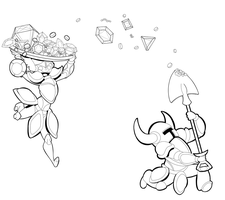 Let's go digging for treasure!: Lineart by Moreven