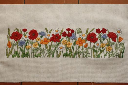 Wildflowers Doorstop, WoXS 218 by StitchingDreams