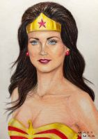 Lynda Carter as Wonder Woman by MattSimas