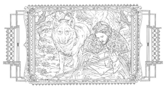 Game Of Thrones_ Coloring Book_ 08 by AllJeff