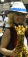 Patty and the giraffe at AB'12 by xSaVaNnAbaNaNaX