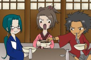 Mini Champloo eating scene by Dalva