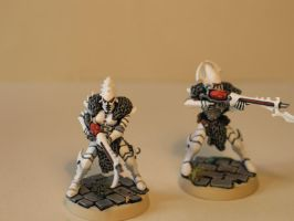 Warhammer 40k Dark Eldar Kabalite Warriors by DayWeAntArt