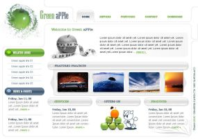Green Apple Webpage by rickydeviant