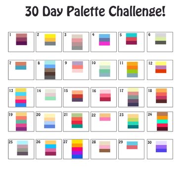 30 Day Palette Challenge by MagicalZombie