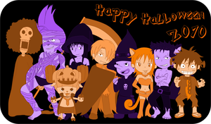 One Piece Happy Halloween 2010 by Ally-Nad
