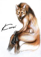 Maned wolf by Kuroi-kisin