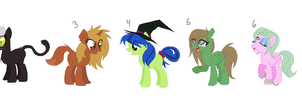 Monster pony halloween adopts ClOSED by Dollmaker47