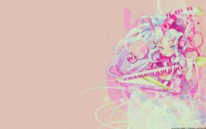 Anime Music Girl Wallpaper by blueangel06661