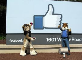Furries at the Facebook Campus Entrance by SpottacusCheetah