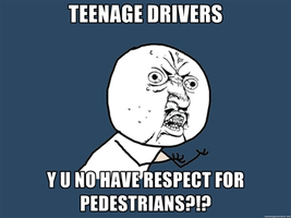 Teenage Drivers Y U NO by NinjaFalcon90