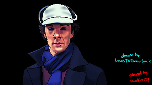 Sherlock  Collab With LoveToDrawSonic by Bloodfire09