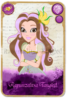 Ever After High.Me.Card. The daughter of Rapunzel by RapunzelitsaTangled
