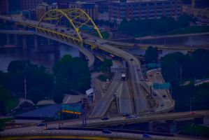 Bridges in Pittsburgh by triple7photography