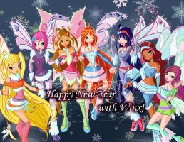 Happy New Year with Winx by fantazyme