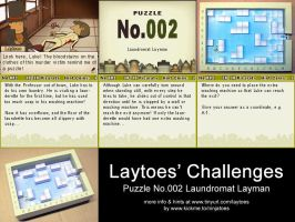 Laytoes' Puzzle 002 by ninjatoespapercraft