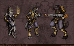 Trio of gnolls.Digital.2009 by BonePileStudio