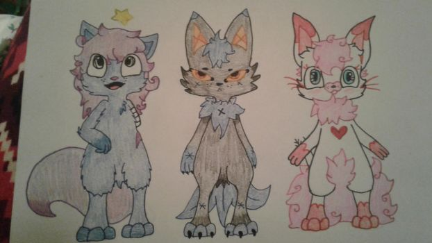 3 of my new OCs  by theholywolf
